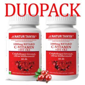 Natur Tanya Szerves C+D3+K2 C-vitamin 1000mg + D-vitamin 2000NE DUOPACK