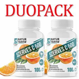 Natur Tanya Szerves C-vitamin 500mg rágótabletta DUOPACK - 2x100db