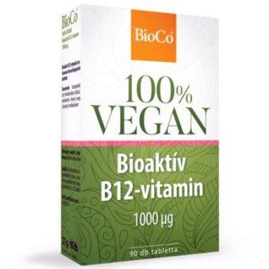 BioCo 100% VEGAN Bioaktív B12-vitamin 1000mg tabletta - 90db