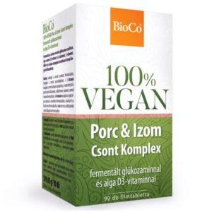 BioCo 100% VEGAN Porc & Izom Csont Komplex filmtabletta - 90db
