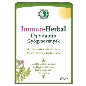 Dr. Chen ImmunHerbal D3-vitamin kapszula - 60db