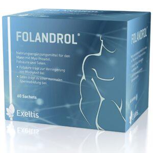 Folandrol mio-inozit, folsav, szelén és antioxidáns tartalmú por - 60 tasak