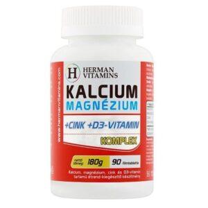 Herman Kalcium + Magnézium + Cink + D3 filmtabletta - 90db