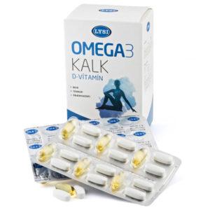 Lysi Omega-3 + D-vitamin + Kalcium tabletta - 30+60db