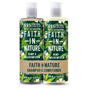 Faith in Nature Kender-tajtékvirág sampon + kondicionáló ajándékcsomag - 2x400ml
