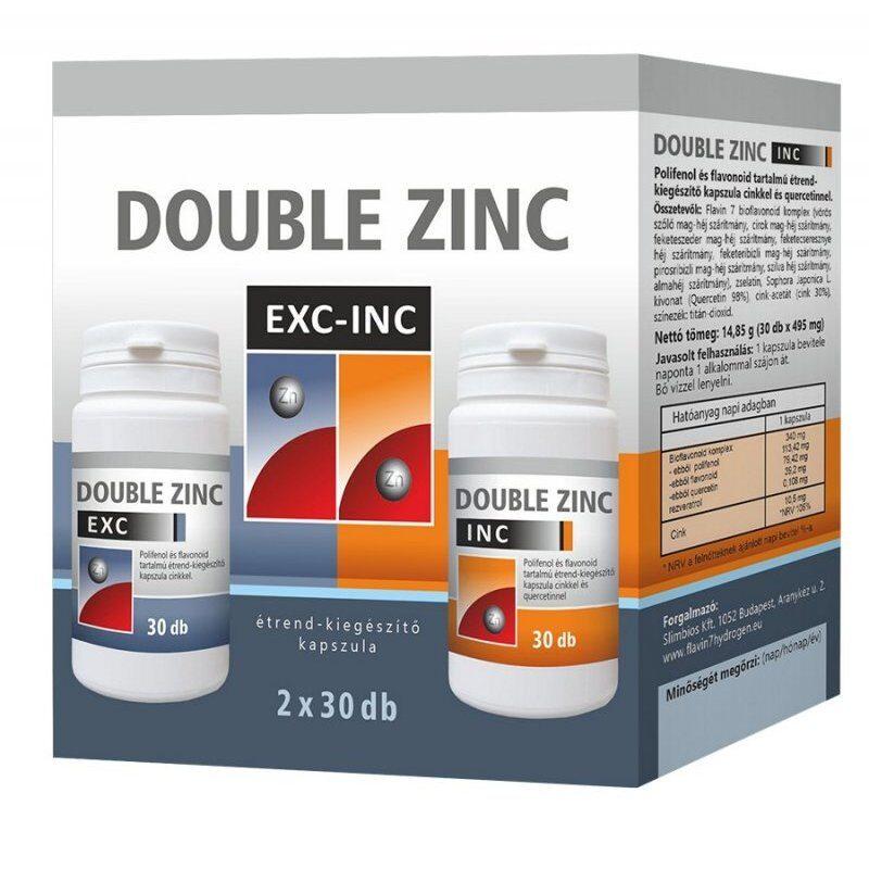Flavin7 Double Zinc Exc-Inc kapszula - 2x30db