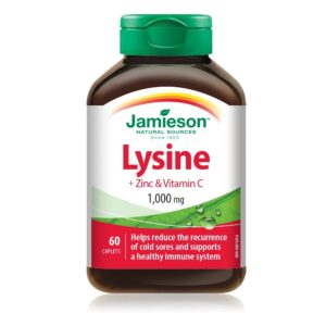 Jamieson Lizin 1000mg + cink + C-vitamin tabletta - 60db
