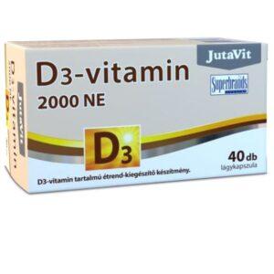 JutaVit D3-vitamin 2000NE lágyzselatin kapszula - 40db