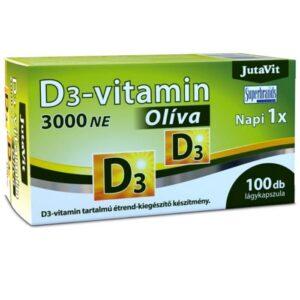 JutaVit Olíva D3-vitamin 3000NE lágyzselatin kapszula - 100db