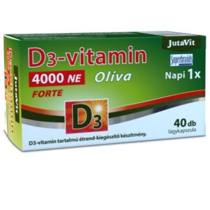 JutaVit Olíva D3-vitamin 4000NE Forte lágyzselatin kapszula - 40db