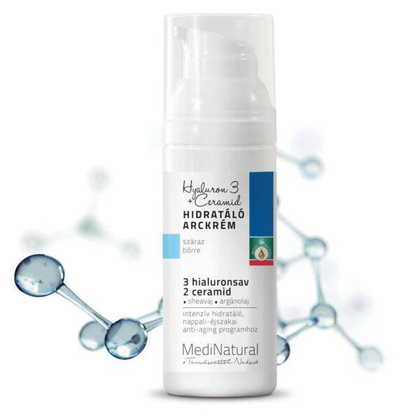 Medinatural Hyaluron 3 + Ceramid hidratáló arckrém - 50ml