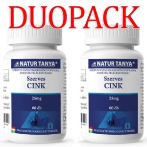 Natur Tanya Szerves Cink DUOPACK - 2x60db