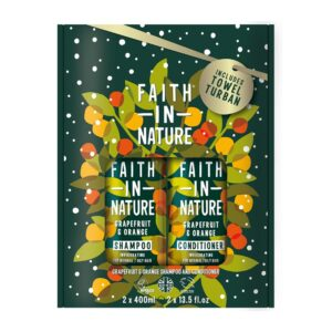 Faith in Nature Grapefruit-narancs sampon + kondicionáló ajándékcsomag - 2x400ml