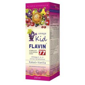 Flavin77 Omega Kid pink szirup - 250ml