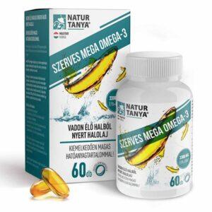 Natur Tanya Mega Omega-3 - vadvízi halolaj, extra EPA és DHA tartalommal - 60db