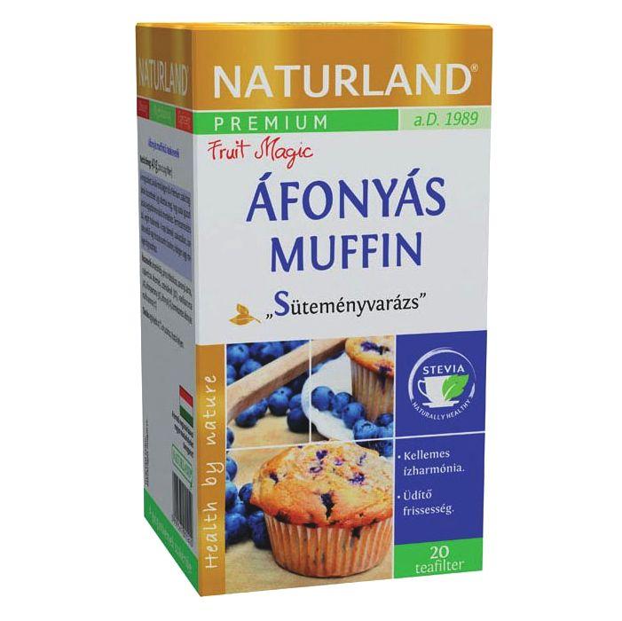 Naturland Prémium Áfonyás Muffin ízű teakeverék - 20 filter