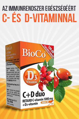 BioCo C+D Duo Retard C-vitamin 1000mg + D-vitamin 2000NE tabletta – 100db