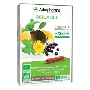 Arkocaps Arkofluids BIO Detox méregtelenítő ampulla - 20db