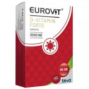 Eurovit D-vitamin Forte 3000NE kapszula - 90db