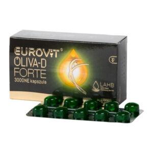 Eurovit Oliva-D Forte 3000NE kapszula - 30db
