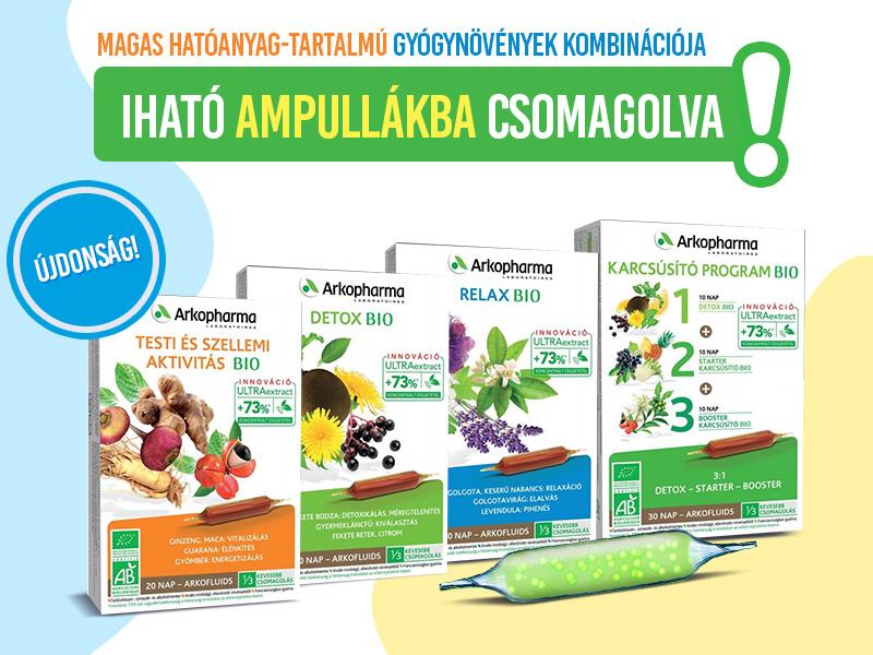 Használja ki az Arkofluids ivóampullákban lévő gyógynövények csodás hatásait!
