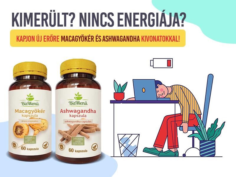 Töltse fel energiakészleteit a Biomenü ashwagandha és maca kapszulákkal!
