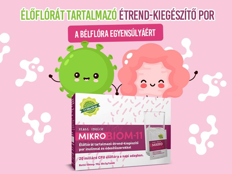Segítse bélflórája egyensúlyát a Mikrobiom-11 probiotikummal!