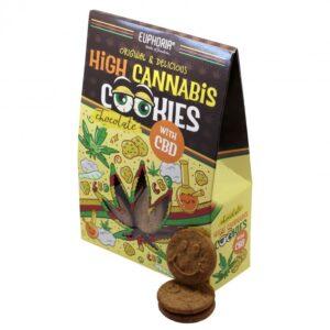 Euphoria CBD High Cannabis Cookies Csokis sütik - 100g