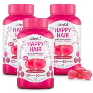 Vitaful Happy Hair hajvitamin gumivitamin TRIPLA PACK - 3x120db