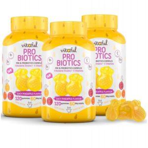 Vitaful Probiotics Probiotikum gumivitamin TRIPLA PACK - 3x120db