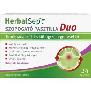 Dr. Theiss HerbalSept szopogató pasztilla Duo kakukkfű ízesítéssel - 24db