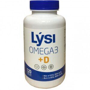 Lysi Omega-3 + D-vitamin kapszula - 120db
