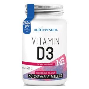 Nutriversum D3-vitamin rágótabletta - 60db