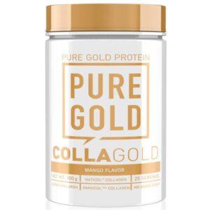 Pure Gold CollaGold Marha és Hal kollagén italpor hialuronsavval mangó - 300g