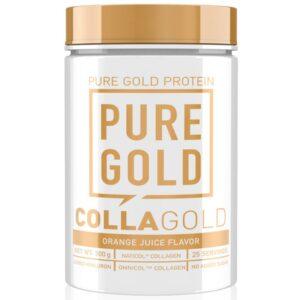 Pure Gold CollaGold Marha és Hal kollagén italpor hialuronsavval orange juice - 300g