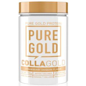 Pure Gold CollaGold Marha és Hal kollagén italpor hialuronsavval eper Daiquiri - 300g