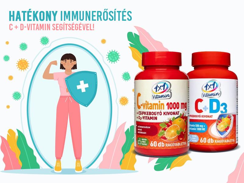Vértezze fel immunitását az 1x1 Vitamin C- és D-vitamint együttesen tartalmazó készítményeivel!