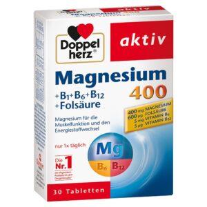 Doppelherz Magnézium 400 + B1+B6+B12+Folsav tabletta - 30db