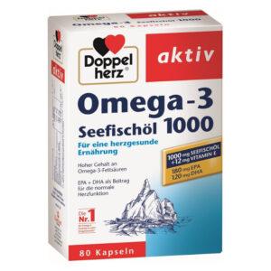 Doppelherz Omega-3 1000 kapszula - 80db