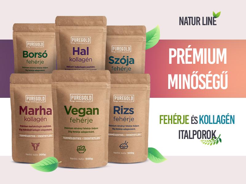 Próbálja ki a prémium minőségű Pure Gold Natur Line Protein és Kollagén termékcsaládot!