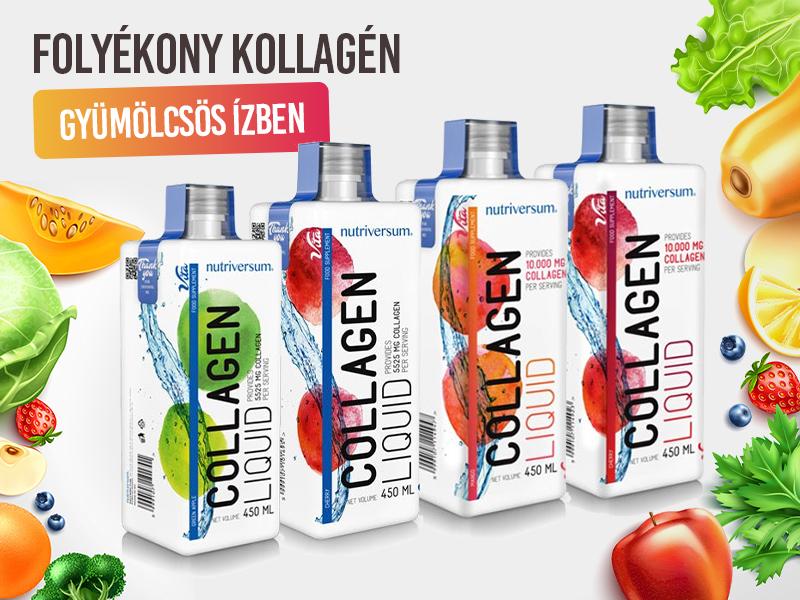 Őrizze meg fiatalságát és egészségét a gyümölcsös ízű, extra magas dózisú Nutriversum Collagen liquid italokkal!