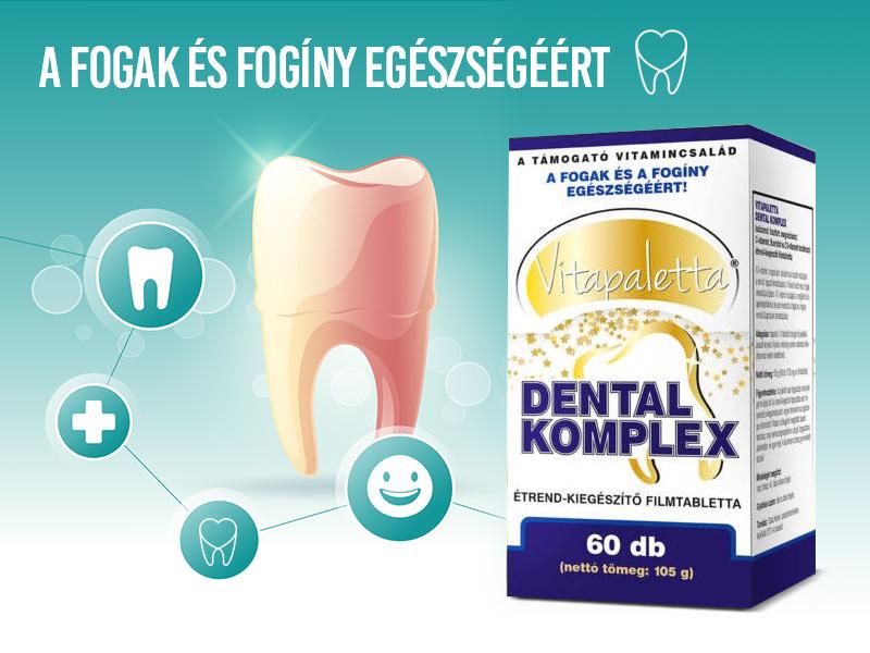 Támogassa fogai és fogínye egészségét a Vitapaletta Dental Komplex kapszulával!
