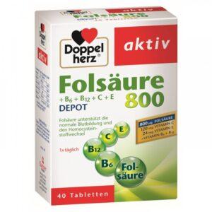 Doppelherz Folsav 800 tabletta - 40db