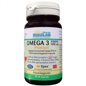 Nutrilab Omega 3 FORTE 1000 kapszula - 30db