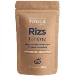 Pure Gold Rizs Protein natúr italpor - 500g