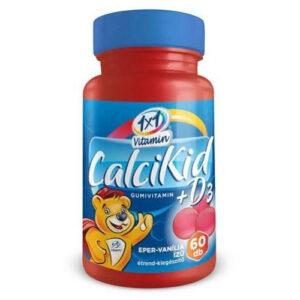 1x1 Vitamin CalciKid+D3 eper-vanília ízű gumivitamin - 60db