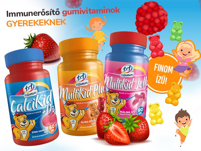 Lássa el gyermekét vitaminokkal és ásványi anyagokkal az 1x1 Vitamin finom gumivitaminjaival!