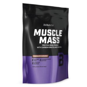 BioTech USA Muscle Mass 1000g csokoládé - 1000g