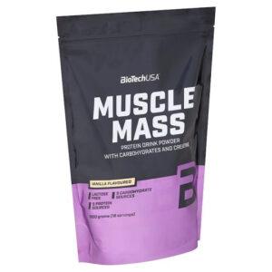 BioTech USA Muscle Mass 1000g vanília - 1000g