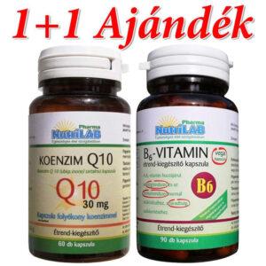 Nutrilab Koenzim Q10 kapszula + Ajándék B6-vitamin kapszula - 60db+90db